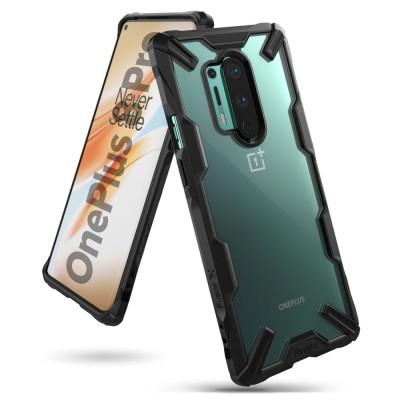 Ringke Fusion X Θήκη Σιλικόνης OnePlus 8 Pro - Black (72420)