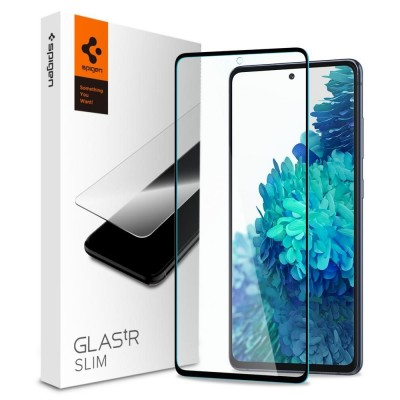 Spigen Tempered Glass GLAS.tR Slim HD - Fullface Αντιχαρακτικό Γυαλί Οθόνης Samsung Galaxy S20 FE - Black (AGL02200)
