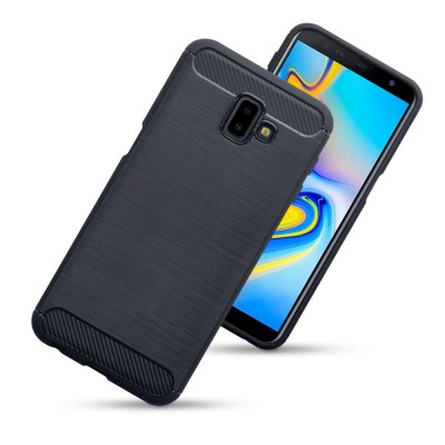 Terrapin Θήκη Σιλικόνης Carbon Fibre Samsung Galaxy J6 Plus 2018 - Black