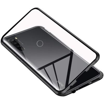 Magneto Full Glass Case - Μαγνητική Θήκη για Xiaomi Redmi Note 8T Clear/Black (98-01486)