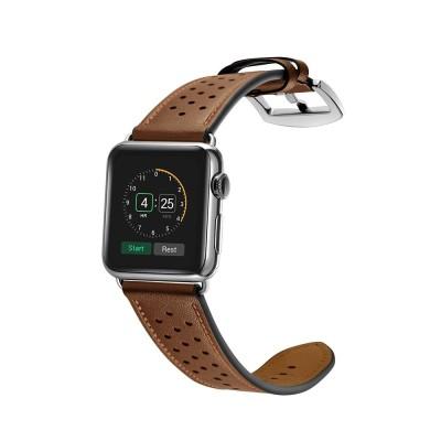 Δερμάτινο λουράκι καφέ για Apple Watch 1/2/3 42mm by Tech-Protect