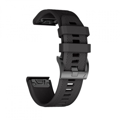 Ανταλλακτικό Λουράκι Smooth Garmin Fenix 3/5X/3HR/5X Plus (26mm) - OEM - Black