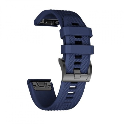 Ανταλλακτικό Λουράκι Smooth Garmin Fenix 3/5X/3HR/5X Plus (26mm) - OEM - Navy Blue