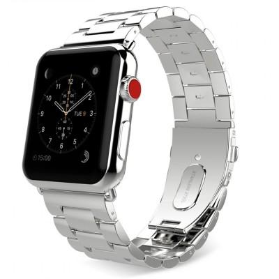 Slimlink Μεταλλικό Λουράκι για Apple Watch 3/2/1 42mm Silver by Tech Protect