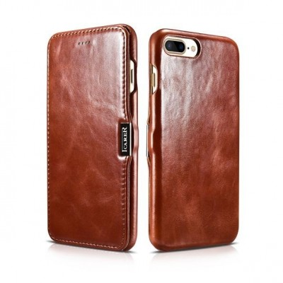 iCarer Vintage Series Side-Open Δερμάτινη Θήκη iPhone 8 / 7 - Brown (RIP 702)