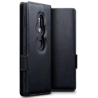 Terrapin Low Profile Δερμάτινη Θήκη - Πορτοφόλι Sony Xperia XZ2 - Black