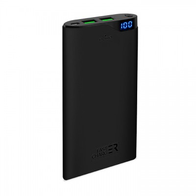 Powerbank Puro Soft Touch 10000mAh - Μαύρο (FCBB100P3BLK)