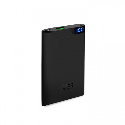 Powerbank Puro Soft Touch 1-USB, 1A, 4000mAh - Μαύρο (FCBB40P2BLK)
