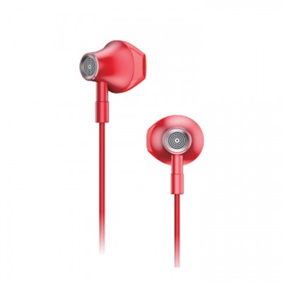 Lenovo Large Unit Semi In Ear Metal Earphone HF140 - Κόκκινο