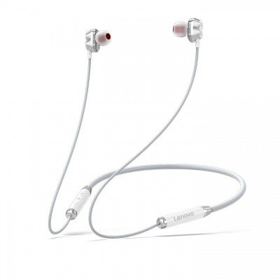 Lenovo Bluetooth Earphone (Double Coil) HE08 - Άσπρο (PTM7C02385)