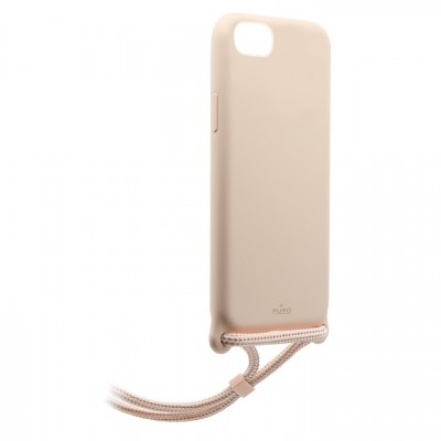 "Puro Θήκη Cover Silicon with necklace for iPhone 7/8/SE 2020 4.7"" - Ροζ"