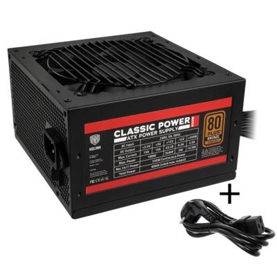 Kolink Classic Power 80 PLUS Bronze PSU 600 Watt PC Power Supply - With Cable