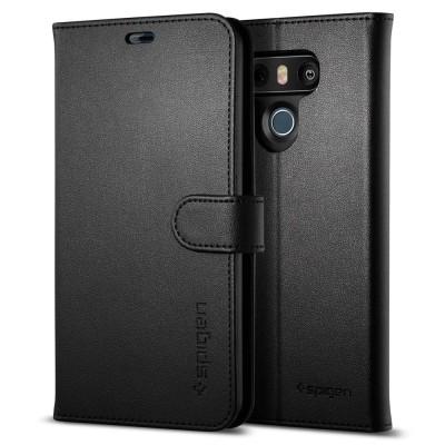 Θήκη-πορτοφόλι Spigen LG G6 Case Wallet S Black