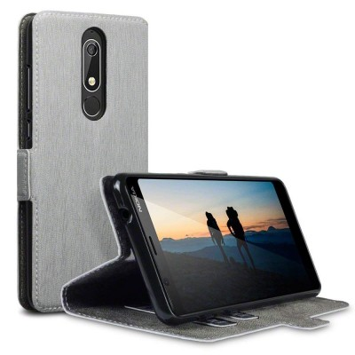 Terrapin Θήκη - Πορτοφόλι Nokia 5.1 - Grey (117-001-297)