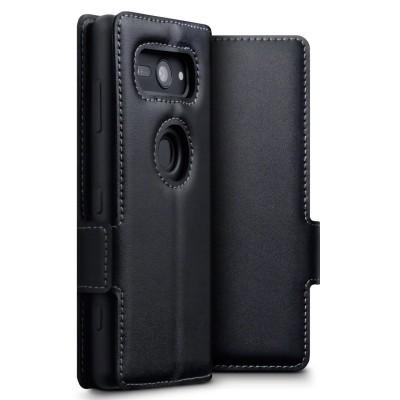 Terrapin Low Profile Δερμάτινη Θήκη - Πορτοφόλι Sony Xperia XZ2 Compact - Black