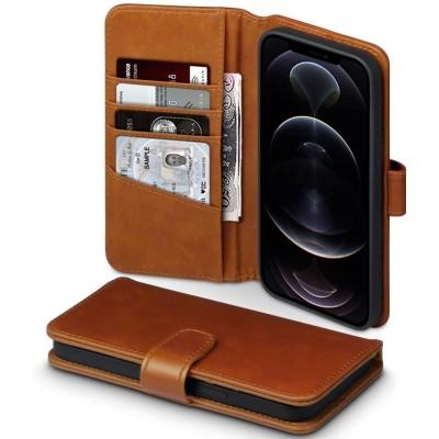 Terrapin Δερμάτινη Θήκη Πορτοφόλι Apple iPhone 12 Pro Max - Cognac (117-135-002)