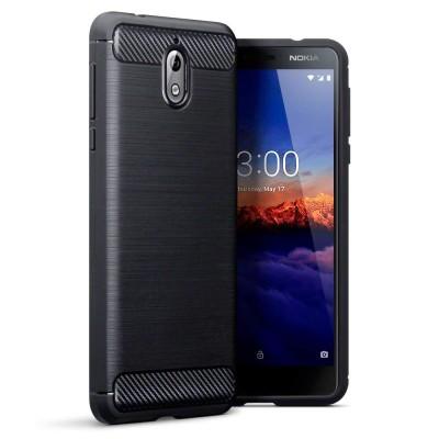Terrapin Θήκη Σιλικόνης Carbon Fibre Design Nokia 5.1 - Black