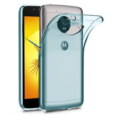 Terrapin Ημιδιάφανη Θήκη Σιλικόνης Motorola Moto G5 - Blue