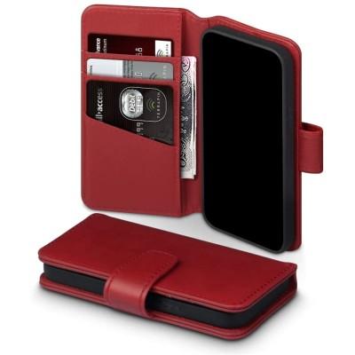 Terrapin Δερμάτινη Θήκη Πορτοφόλι Apple iPhone 12 Mini - Red (117-133-004)