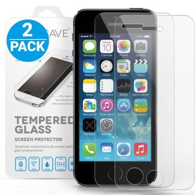 Αντιχαρακτικό Γυάλινο Screen Protector iPhone 5/5S/SE - 2 Τεμάχια