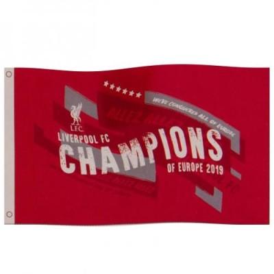 Σημαία Liverpool F.C Champions Of Europe - Επίσημο Προϊόν