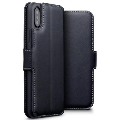 Terrapin Low Profile Δερμάτινη Θήκη - Πορτοφόλι iPhone X / 10 - Black