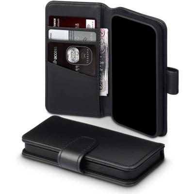Terrapin Δερμάτινη Θήκη Πορτοφόλι Apple iPhone 12 Μini - Black (117-133-001)