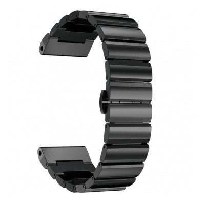 Μεταλλικό Λουράκι για Garmin Fenix 5 - 22mm - Black (12841) - OEM