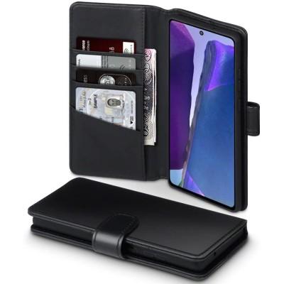 Terrapin Δερμάτινη Θήκη - Πορτοφόλι Samsung Galaxy Note 20 - Black (117-002a-317)