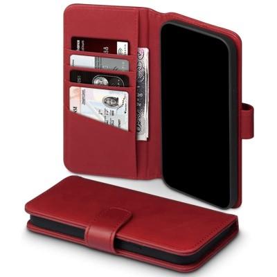 Terrapin Δερμάτινη Θήκη Πορτοφόλι Apple iPhone 12 Pro Max - Red (117-135-004)