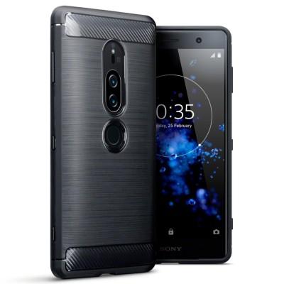 Terrapin Θήκη Σιλικόνης Carbon Fibre Design Sony Xperia XZ2 Premium - Black