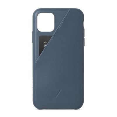 Native Union Clic Card Case Δερμάτινη Θήκη - Blue για iPhone 11 Pro Max