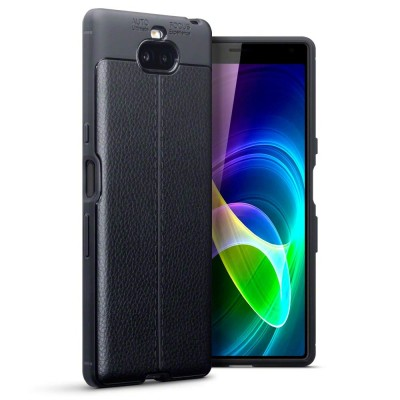 Terrapin Θήκη TPU Leather Design Sony Xperia 10 - Black (118-005-493)