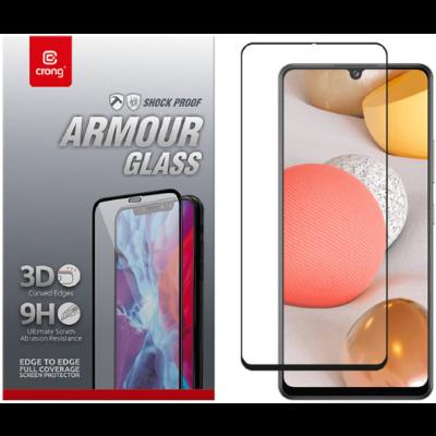 Crong 3D Armor Glass Full Glue - Fullface Tempered Glass Αντιχαρακτικό Γυαλί Οθόνης Samsung Galaxy A42 5G - Black