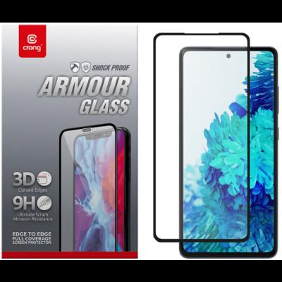 Crong 3D Armor Glass Full Glue - Fullface Tempered Glass Αντιχαρακτικό Γυαλί Οθόνης Samsung Galaxy S20 FE - Black (CRG-3DAG-SG20FE)