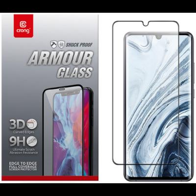 Crong 3D Armor Glass Full Glue - Fullface Tempered Glass Αντιχαρακτικό Γυαλί Οθόνης Xiaomi Mi Note 10 / Mi Note 10 Pro - Black (CRG-3DAG-XMN10)
