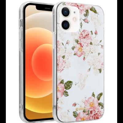 Crong Flower Θήκη Σιλικόνης Apple iPhone 12 mini - Pattern 02 (CRG-FLR-IP1254-02)
