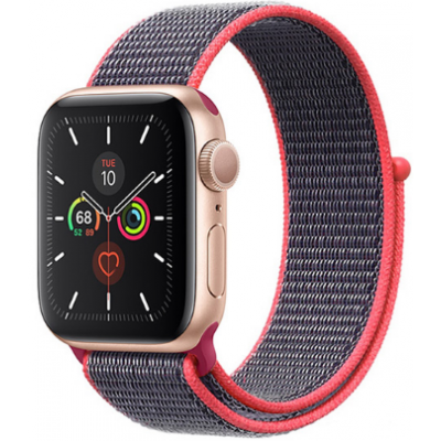 Crong Nylon Λουράκι Apple Watch 5/4/3/2/1 (40/38mm) - Electric Pink (CRG-40NLB-PNK)