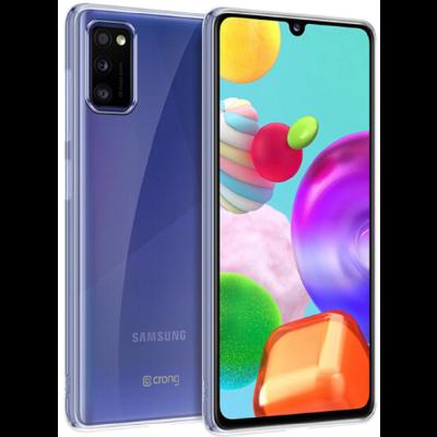 Crong Slim Διάφανη Θήκη Σιλικόνης Samsung Galaxy A41 - 0.8mm - Clear (CRG-CRSLIM-SGA41-TRS)