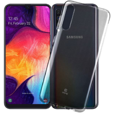 Crong Slim Διάφανη Θήκη Σιλικόνης Samsung Galaxy A50 - 0.8mm - Clear (CRG-CRSLIM-SGA50-TRS)