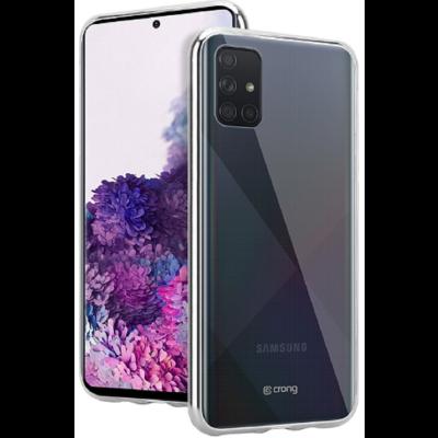 Crong Slim Διάφανη Θήκη Σιλικόνης Samsung Galaxy A71 - 0.8mm - Clear (CRG-CRSLIM-SGA71-TRS)
