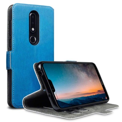 Terrapin Θήκη - Πορτοφόλι Nokia 6.1 Plus - Light Blue