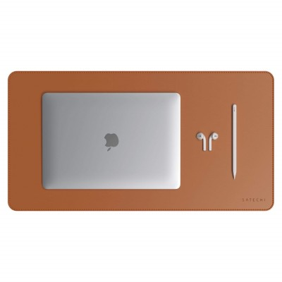 Satechi Eco-Leather Deskmate - Επιφάνεια Γραφής & Mouse pad - Mat Brown (ST-LDMN)