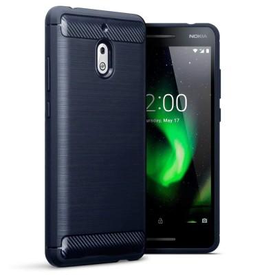 Terrapin Θήκη Σιλικόνης Carbon Fibre Design Nokia 2.1 - Dark Blue