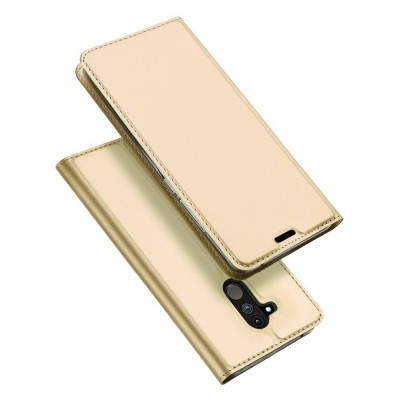 Duxducis SkinPro Flip Θήκη για Huawei Mate 20 Lite -Gold