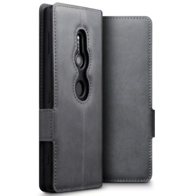 Terrapin Low Profile Δερμάτινη Θήκη - Πορτοφόλι Sony Xperia XZ2 - Grey