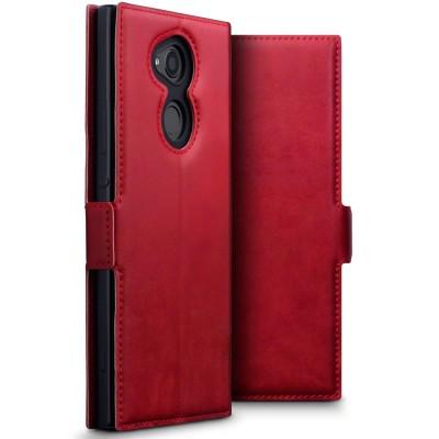 Terrapin Low Profile Δερμάτινη Θήκη - Πορτοφόλι Sony Xperia XA2 Ultra - Red