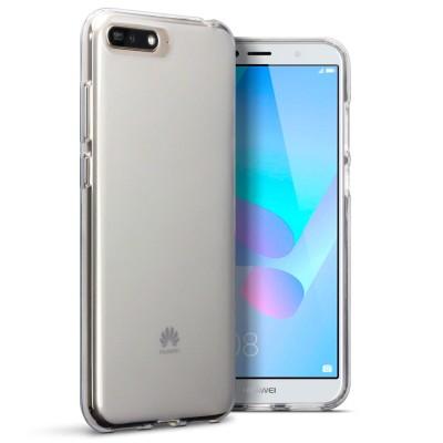 Terrapin Ημιδιάφανη Θήκη Σιλικόνης Huawei Y6 2018 - Clear / White