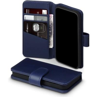 Terrapin Δερμάτινη Θήκη Πορτοφόλι Apple iPhone 12 Mini - Blue (117-133-005)
