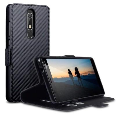 Terrapin Θήκη - Πορτοφόλι Nokia 5.1 - Black Carbon